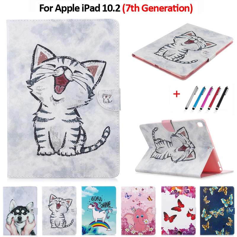 3 Apple iPad Tablet for Unicorn 2017 Cover Cat 2019 For Pro 5 10 Cute Magnetic Air Case
