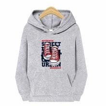 Мужчины% 27 серый принт толстовка Harajuku Street толстовка длинный рукав капюшон воротник мода толстовка повседневная топ пуловер