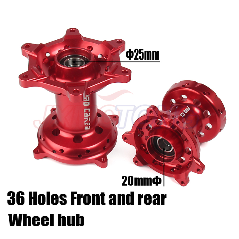 Motorcycle CNC Machined Front And Rear Wheel Hub For HONDA CR 125 250 CRF250R CRF450R CRF450X <font><b>CRF250X</b></font> CRF 250 450 R X 00 01-14 image
