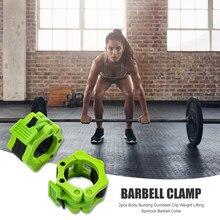 2 pezzi collare manubri clip palestra sollevamento pesi bilanciere attrezzature per il Fitness parti per allenamento confortevole decorazione
