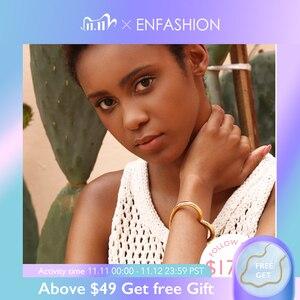 Image 1 - ENFASHION Bracelets cœur pour femmes, accessoires, bracelet en laiton de couleur or, bijoux à la mode, cadeaux pour amis, BC2006, 2020