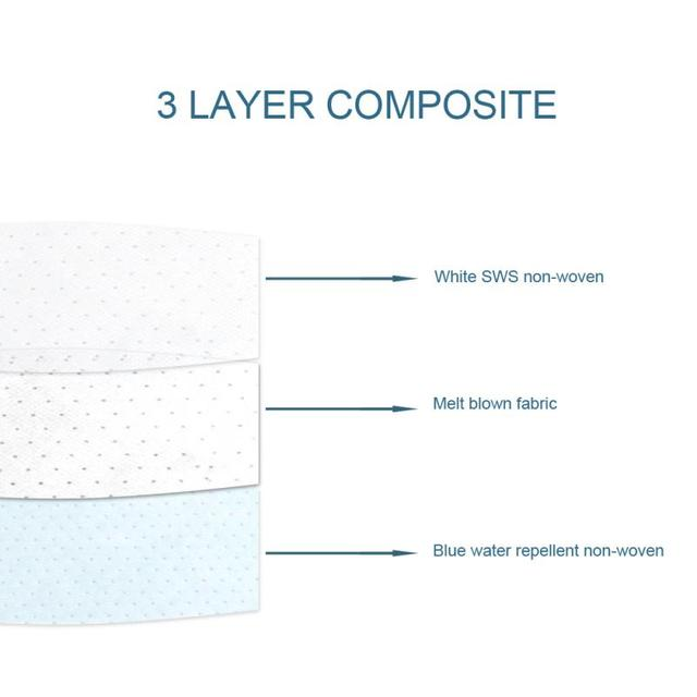 Unisex High Efficiency Filter Non-woven Anti Bacteria Proof Flu Face Masks Carbon Filter Windproof Mouth-muffle Masks 5