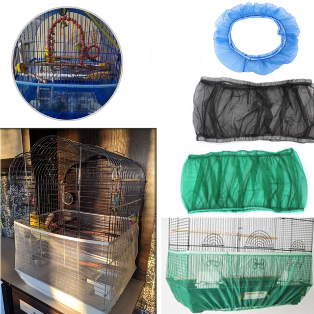 Free Shipping Cage Net New Bird Cage Covers Mesh Catcher Guard Bird Cage Net Shell Skirt Dust-proof Airy Mesh Parrot Cage Cover 3