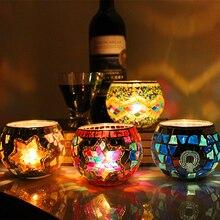 1 х мозаичный подсвечник ручной работы, романтическая свеча при свечах, ужин, Свадебная вечеринка, подсвечник, домашний декор, поставка