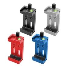 BGNing soporte para cabeza de trípode para teléfono móvil, Clip para linterna para teléfono, micrófono con nivel de burbuja y soporte para zapata fría, XJ 8