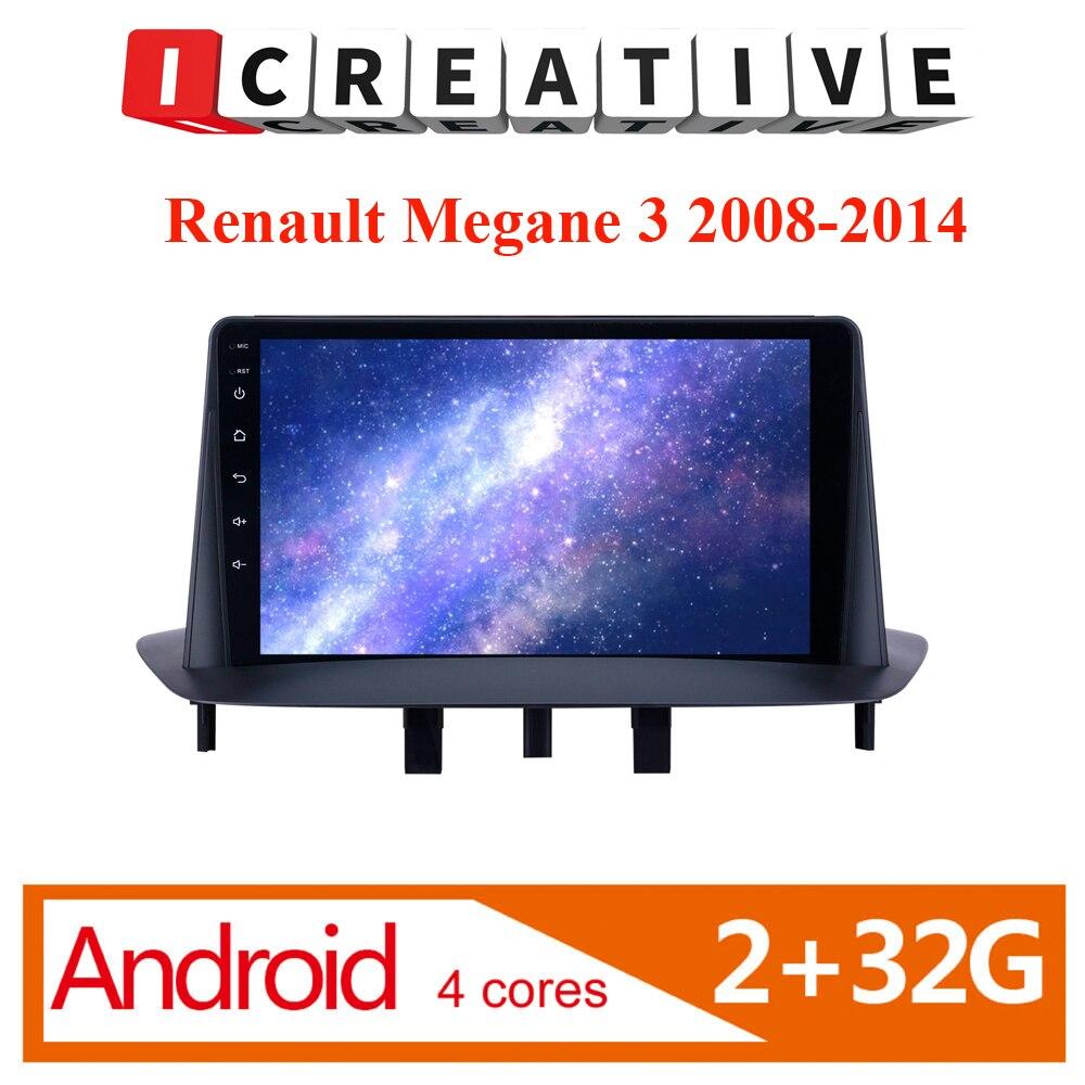 2 Din Car Radio Multimedia Video Player Navigation GPS Audio For Renault Megane III 2008 2009 2010 20011 2012 2013 2014