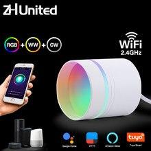 9w led downlight wifi inteligente tuya app escurecimento redondo ponto rgb mudando quente legal música luz lâmpada trabalho com alexa/google casa