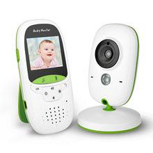 Bezprzewodowa elektroniczna niania aparat cyfrowy LCD noktowizor 2-Way Talk wideo IR LED Monitor temperatury niemowlę dziecko snu Cam tanie tanio AKASO wireless Wideo i Audio 400TVL color 220x176 CMOS Dziecko Cry Alarmu Monitorowanie temperatury Przenośne Muzyka 2 4GHZ