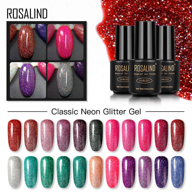 Rosalind Gel Nagellak Vernis Hybrid Alle Voor Manicure Set 7Ml Semi Permanente Vernis Uv Top Coat Poly Nail gel Polish