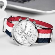 MEGIR reloj Original para hombre y mujer, relojes deportivos de cuarzo, correa de lona, Masculino, 2011