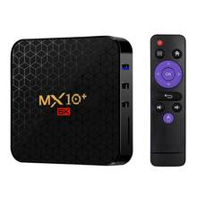 MX10 Set Top Box Multiformal Subtitle Video Support Android 9.0 4GB and 32GB 2.4G/5G WIFI USB 3.0 6K with Remote Control(China)