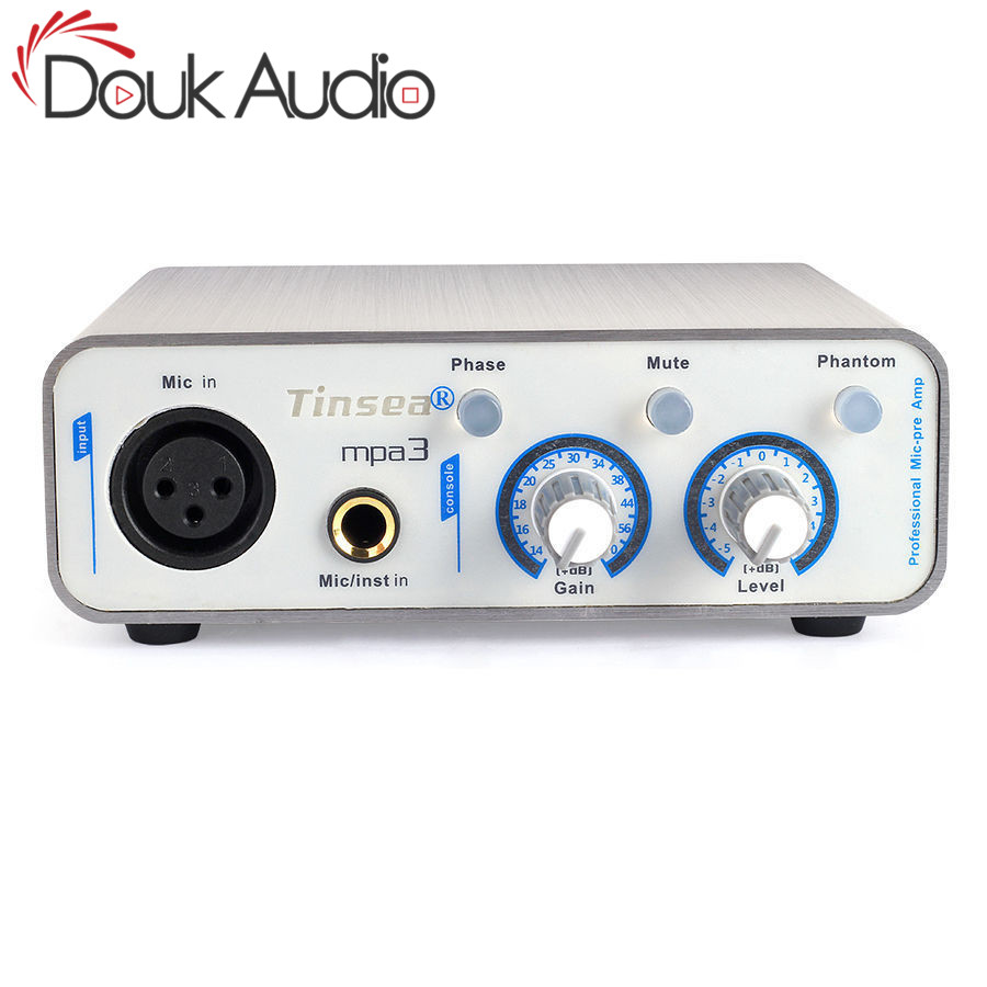 Douk Audio HiFi Microphone préamplificateur Balance complète XLR micro-préampli enregistrement son diffusion en direct sur le web