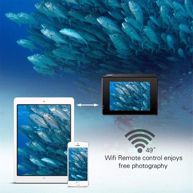 Full HD 4K Action Camera AT-Q1 WiFi 2.0Inch Mini Sports DV 30m Waterproof Video Recording Cam 30FPS 1080P USB 2.0 1