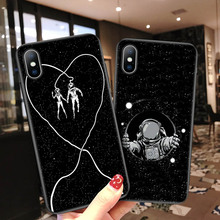 Lovebay Planet Starry Cases Cover For iPhone X XS XR Xs Max Cases For iPhone 6 6s 7 8 Plus 5 5s SE Art Lines Soft TPU Back Cover cheap Fitted Case Cartoon Planet Black Phone Case Dirt-resistant Anti-knock Apple iPhones IPHONE XR iphone xs IPHONE XS MAX IPHONE 6S