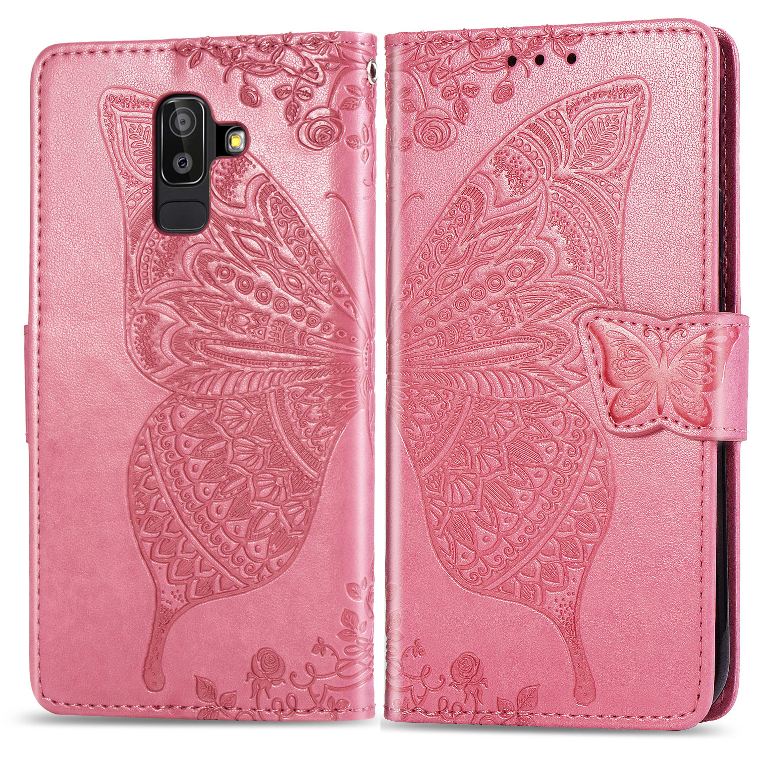 A6 Plus Case sFor Samsung Galaxy A6 Plus Luxury PU Leather Cover Coque For Samsung Galaxy A6 Plus + Book Style Protection Card