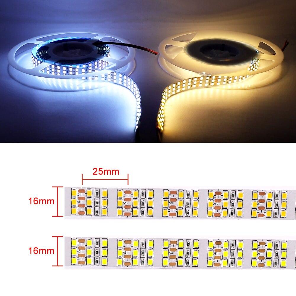 luz 120 240 480 leds m flex led luz listra 12v 24v