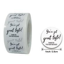 Autocollants de scellage en papier rond blanc, 50 à 500 pièces, étiquettes de remerciement dorées pour emballage professionnel