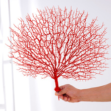 цена 45cm Artificial Tree Branch White Coral Wedding Decorations Home Artificial Peacock Coral Branches Plastic Dried Branch онлайн в 2017 году