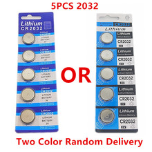 OOLAPR 5pcs original brand new battery for cr2032 3v button cell coin batteries for watch computer cr 2032 Free Shipping цена 2017