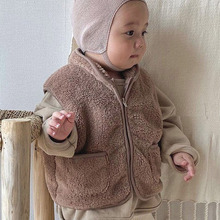 MILANCEl 2020 winter new baby clothes toddler boys vest Korean style baby girls outerwear