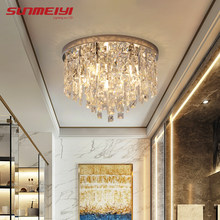 Modern LED Crystal Ceiling Lights For Bedroom Corridor Kitchen Nordic Ceiling Lamp Gold Industrial Living room Light plafonnier