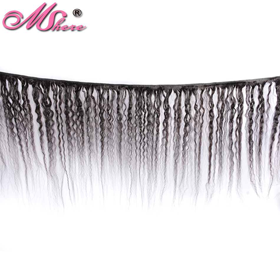 Image 2 - Kinky Straight Hair Brazilian Hair Weave Bundles Coarse Yaki 100% Human Hair 1/3/4 Bundles Mshere Non Remy Hair Extensions-in Hair Weaves from Hair Extensions & Wigs