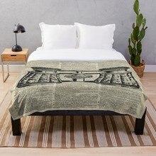 Envío Directo, manta estampada Sherpa, manta suave de lana, Alfombra de franela, decoración del hogar para cama, Nido de Pájaros, tinta Vintage Illust