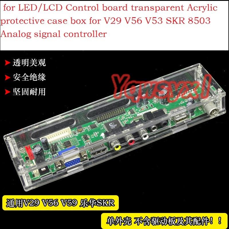 Yqwsyxl For LED/LCD Control Board Transparent Acrylic Protective Case Box For V29 V56 V53 SKR 8503 Analog Signal Controller