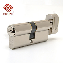 HILUKE RTC70.5C 70mm European standard lock cylinder security door copper alloy lock core hardware 90 center 45 45 lock core double side copper blade security door lock high security lock core double open anti snap anti drill