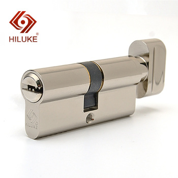 HILUKE RTC70.5C 70mm European standard lock cylinder security door copper alloy lock core hardware uxcell home office hardware single cylinder deadbolt jimmy proof keyed door lock