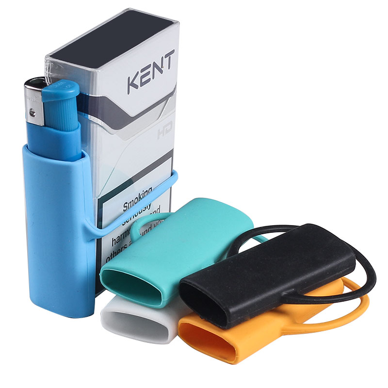2019 New Love Hug Rubber Lighter Case Silicone Lighter Sleeves Wrap Around Tobacco Pouch & Cigarette Case Holder Multipack