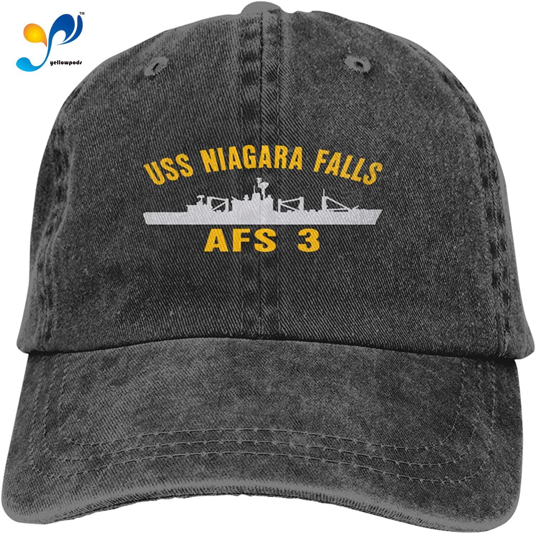 USS Ниагара Фолз AFS 3 сэндвич Кепка джинсовые шляпы бейсболка взрослая ковбойская шляпа