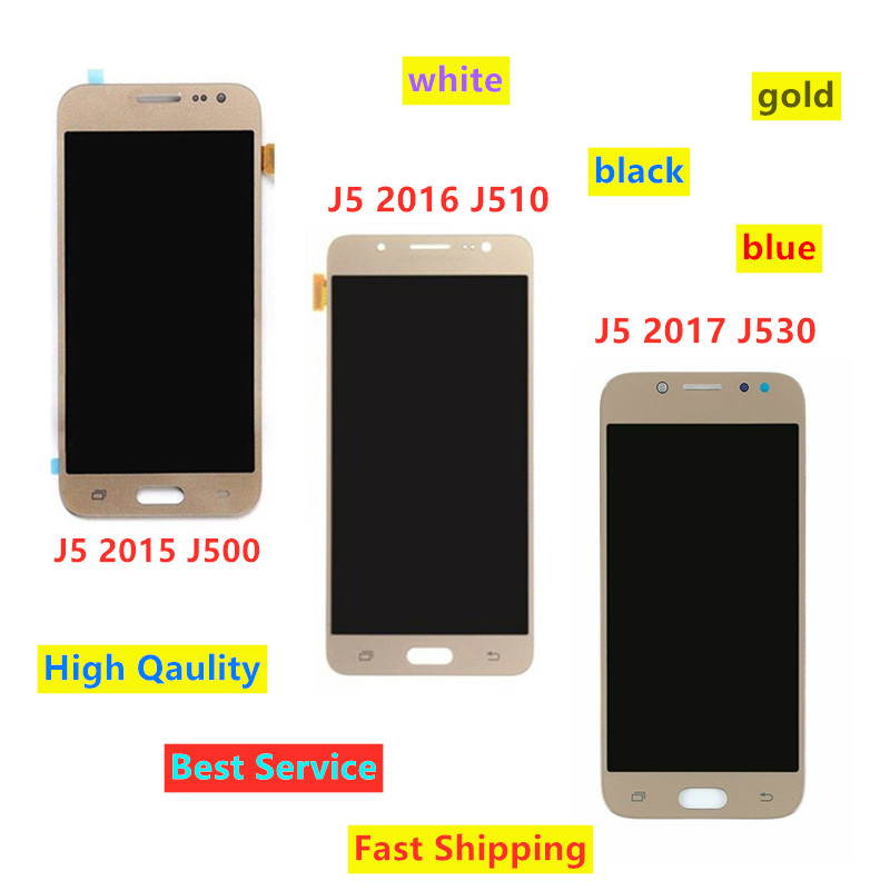 For Samsung <font><b>J5</b></font> 2017 J530 LCD For Samsung Galaxy <font><b>J5</b></font> 2015 <font><b>J500</b></font> <font><b>J5</b></font> 2016 J510 LCD <font><b>Display</b></font> Touch Screen Digitizer Replacements image