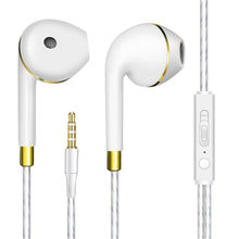 smart 3.5mm In-Ear Wired earphones Bass Sport earbuds with volume control MIC MP3 mp4 for Xiaomi iPhone Samsung ps4 gold Headset(China)