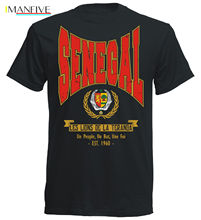 T Shirt Cotton Men Short Sleeve Hot Summer Sale T-Shirt Senegal Footballer  Soccers Fashion Classic
