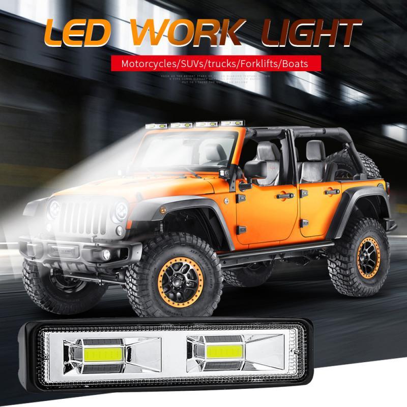 Plastic Driving Fog Off Road LED Work Car Light 48W 12V LED Universal Car 4WD Led Beams Work Light Bar For Road Jeep SUV UK