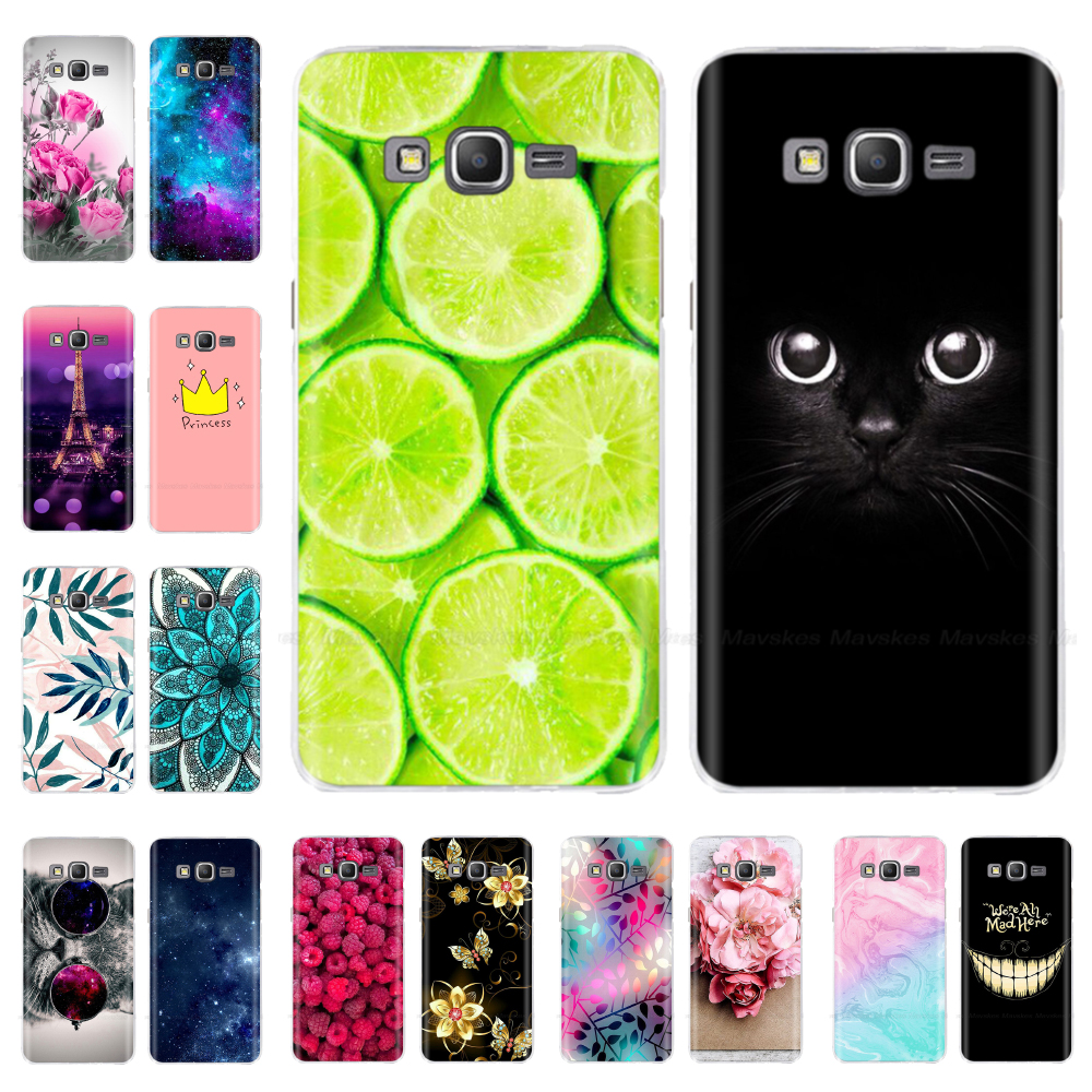 Soft TPU Flower Cases FOR Samsung Galaxy Grand Prime Case Cover G530 G530H G531 G531H G531F Bumper FOR Samsung Grand Prime Cover