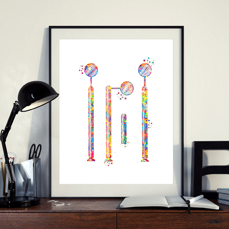 Dental wall art print