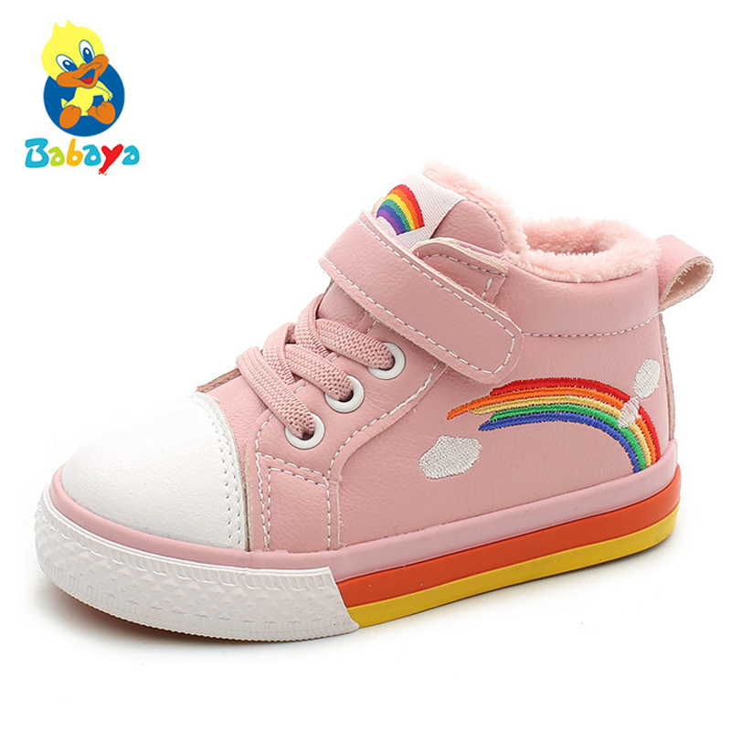 Baby Winter Shoes Girls Boots Toddler Winter Shoes Snow Boots Warm Plus Velvet New 1-3 Years Old Boys Children Cotton Shoes
