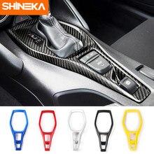 SHINEKA Auto Styling ABS Getriebe Shift Panel Dekorative Abdeckung Trim Rahmen Aufkleber kit für Chevrolet Camaro 2017 + Innen Zubehör