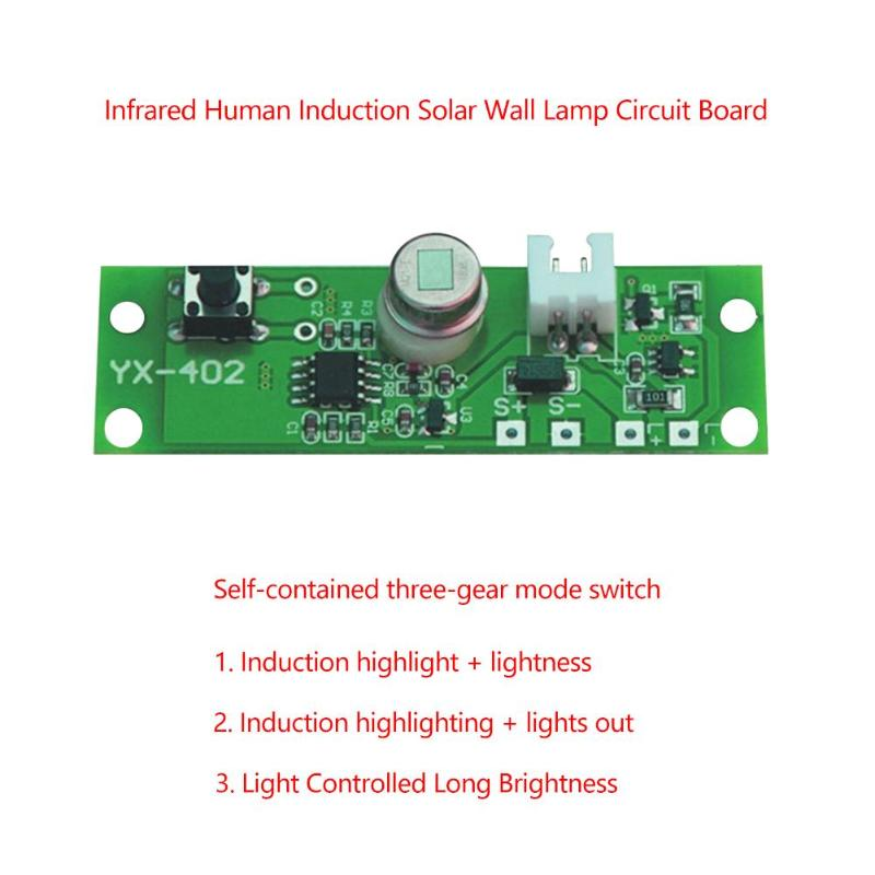 3.7V Solar Lamp Circuit Board Light Human Body Infrared Induction Control Sensor Infrared Sensing Of Human Body  2-5M
