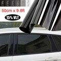 50x300 см черная тонированная пленка Взрывозащищенная для автомобильных окон стеклянная Солнцезащитная наклейка