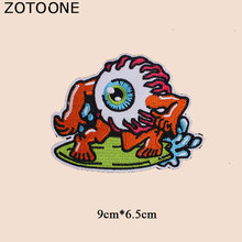 ZOTOONE Colorful  Eyes Patch for Clothes Iron on Heat Transfer Diy Stickers Applique Embroidered Applications Cloth Fabric G