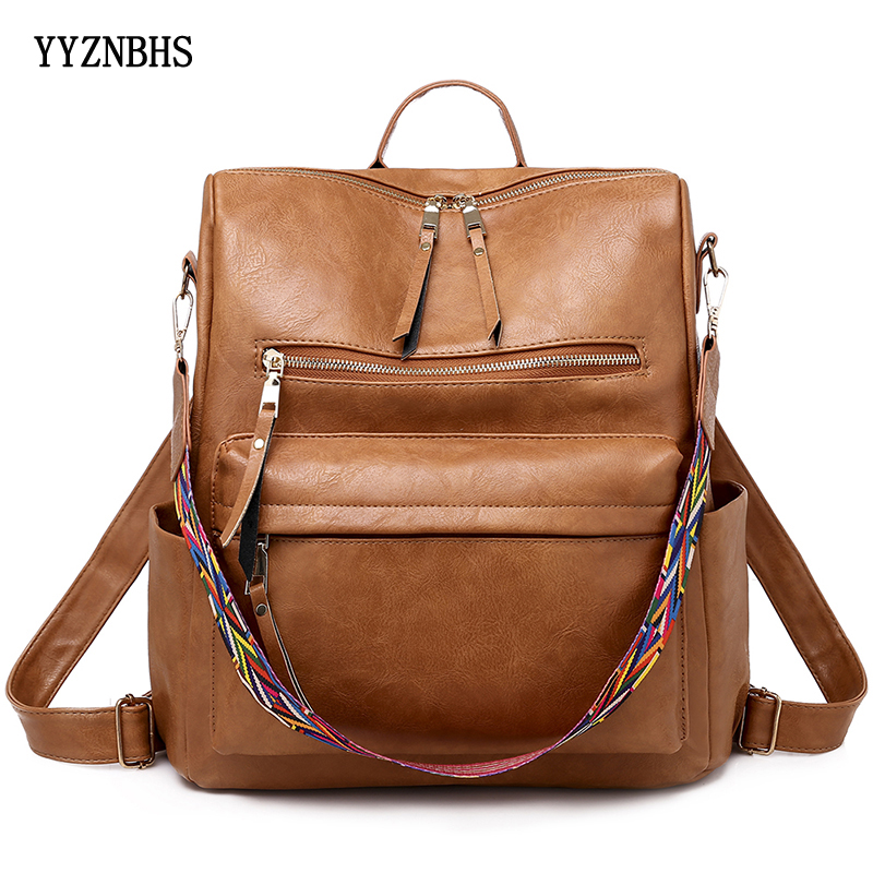 Luxury Leather Backpack Women Bag Pack Shoulder Bag Sac A Dos High Quality Travel Backpacks Ladies School Bags Mochila Feminina