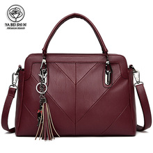 2020 tassel solid color luxury handbag simple fashion ladies shoulder bag designer casual handbag Bolsa Feminina Sac A Main totem women bag modis genuine leather bag bolsa 2018 feminina handbag sac a main luxury designer shoulder