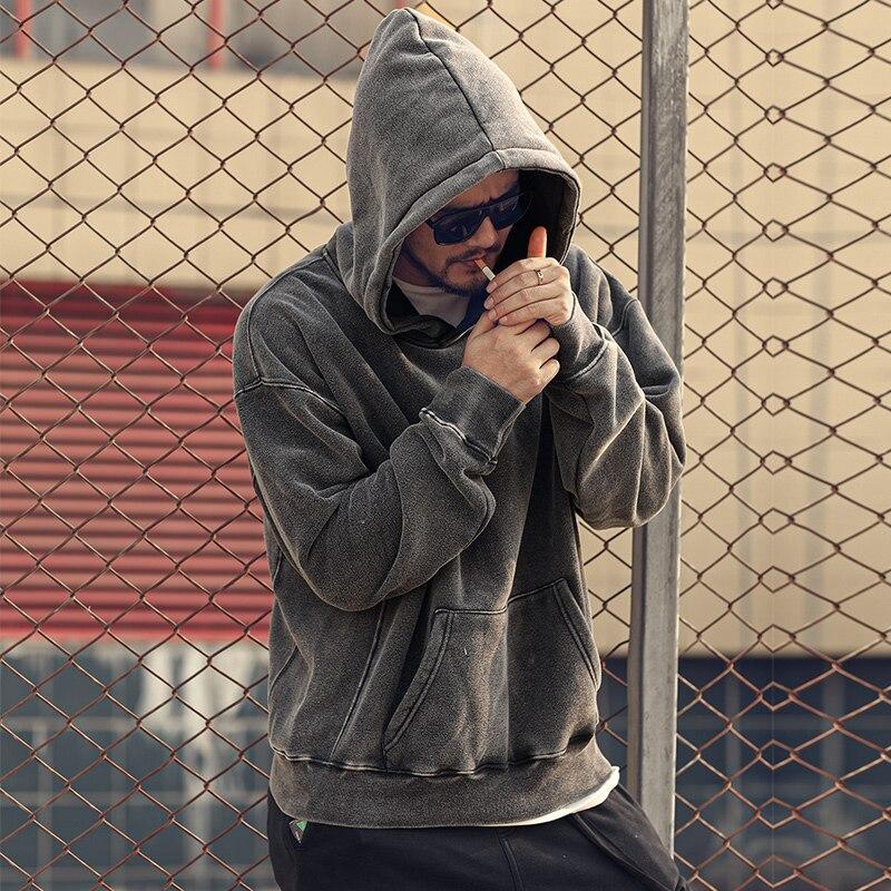 Autumn And Winter Over Size Men's Sweatshirt Hoodies Loose Fit Cotton Men's Hat Hoodies WT922