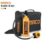 SMACO S400 PLUS Set 1L Mini Scuba Diving Cylinder Oxygen Tank with Upgraded Breathing Valve Handbag