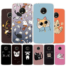 Cat kittens Memes Kitty Phone Case For Motorola Moto G8 G7 G6 G5S G5 G4 E6 E5 E4 Plus Play Power One Action X4 Cover Coque leather filp case for motorola moto g7 power play e6 lanyard rhinestone card wallet phone cover coque for google pixel 4 xl case