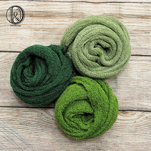 Don&Judy 3pcs Pack Green Knit Stretch Wraps Set Baby Newborn Photo Props Boy Girl Infant Newborn Photography Props Spring