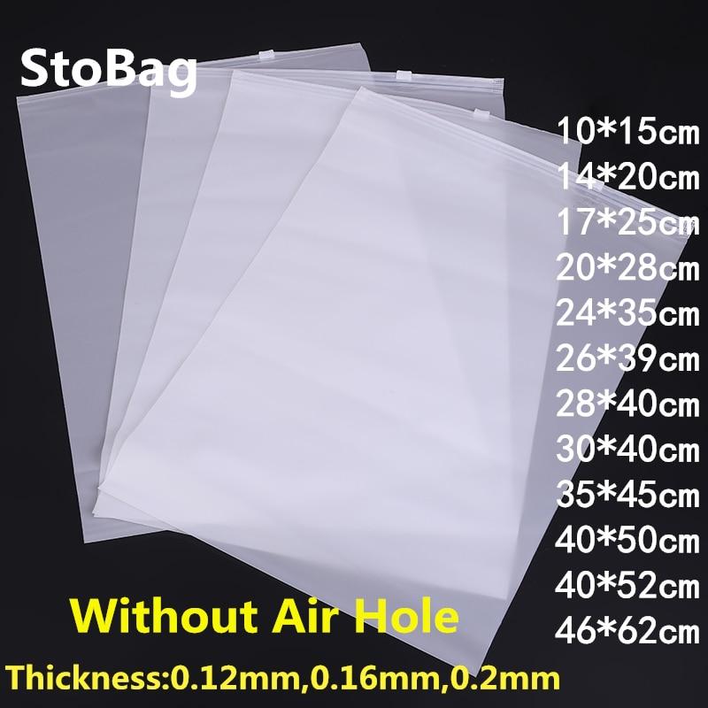 StoBag 10 stücke Gefrostet Klar Kunststoff Paket Tuch Reise Lagerung Tasche Benutzerdefinierte Wasserdichte Tasche Zipper Lock Selbst Dichtung Matte Tragbare